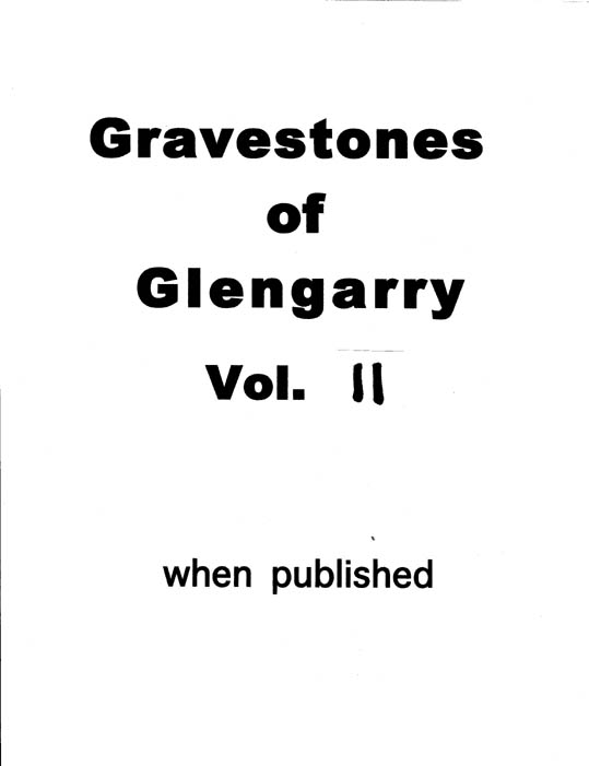 Gravestones of Glengarry v.11