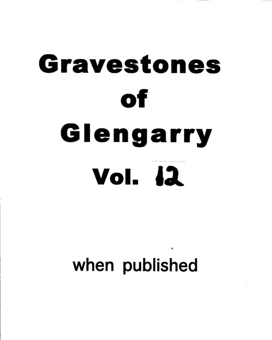 Gravestones of Glengarry v.12
